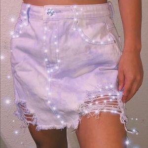 Pastel purple tie dye skirt 🦄🍭💖
